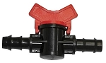 Bay Hydro 3/8 Inch Red Double Barbed Water Shut off Valve